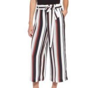 NWT Halogen Ivory Black Stripe Pant sz XLP